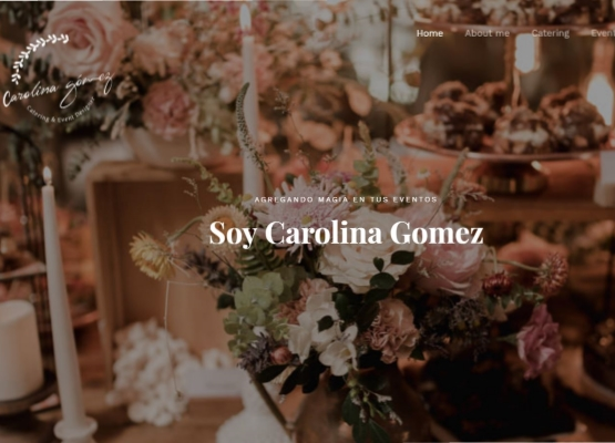 Showcase website<br/>Carolina Gomez Catering
