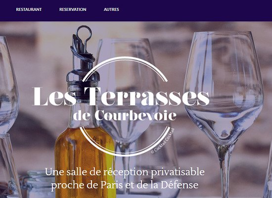 Showcase website<br/>Les Terrasses de Courbevoie