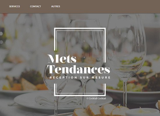 Showcase website<br/>Mets Tendances